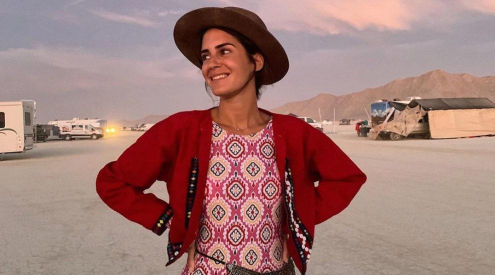 Gala González en el festival Burning Man