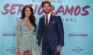 Sergio Ramos y Pilar Rubio en la presentación del documental.