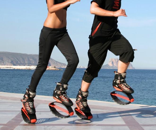 Detalle de las botas Kangoo Jumps necesarias para esta actividad...