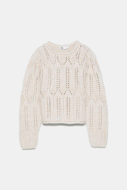 Jersey de punto en color arena de Zara