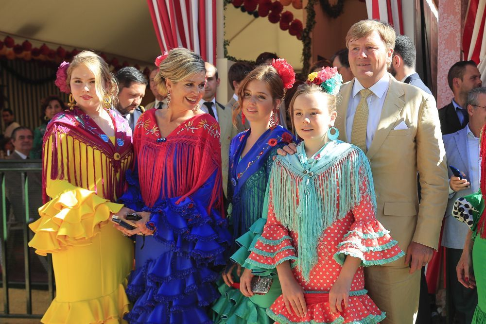 La familia real holandesa en la Feria de Sevilla.