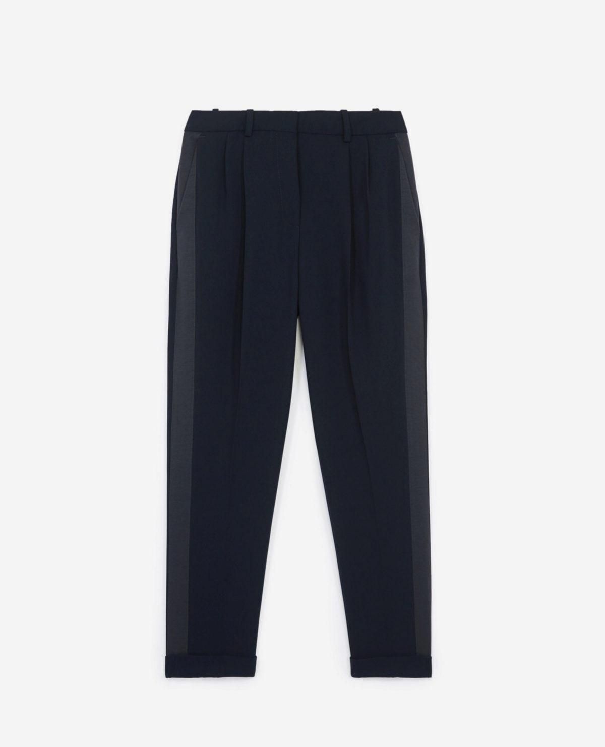 Pantalón de crepe en color azul de The Kooples