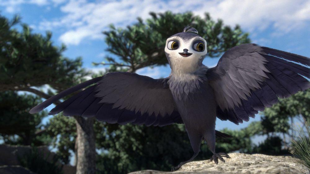 La golondrina Manou desplegando sus alas