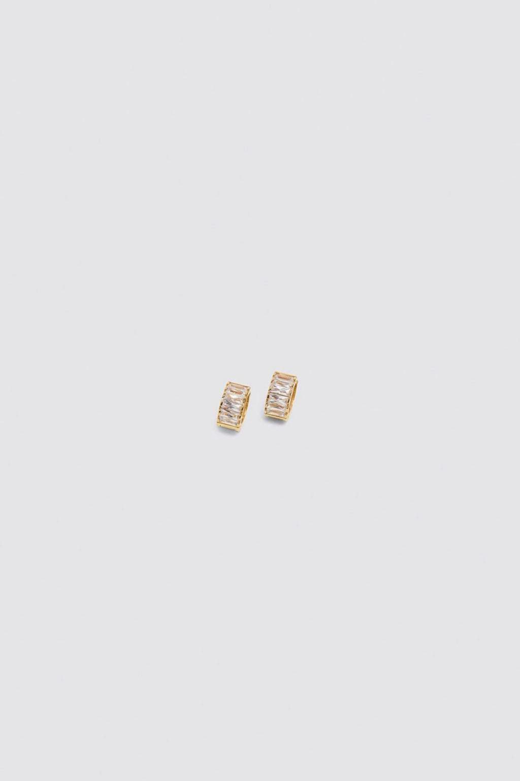 Pendientes de aro con circonitas de Zara