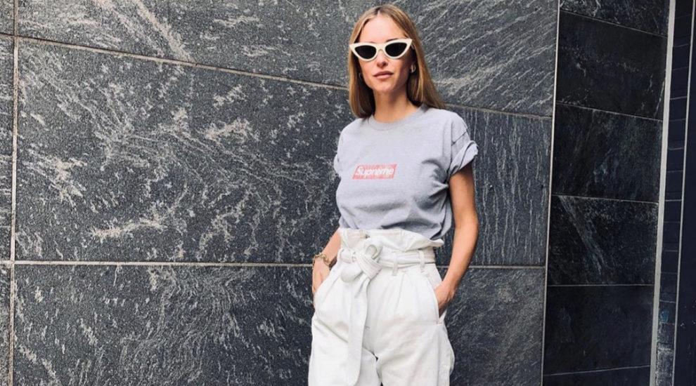Pernille Teisbaek también apuesta por el pantalón 'slouchy'