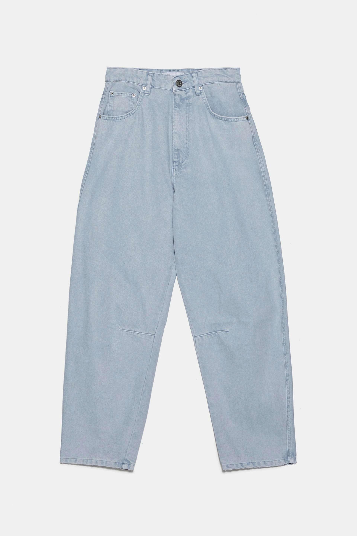 Jeans 'slouchy' de efecto lavado de Zara