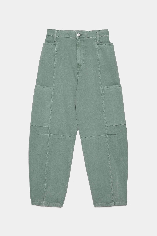 Pantalón khaki de corte 'slouchy' de Zara