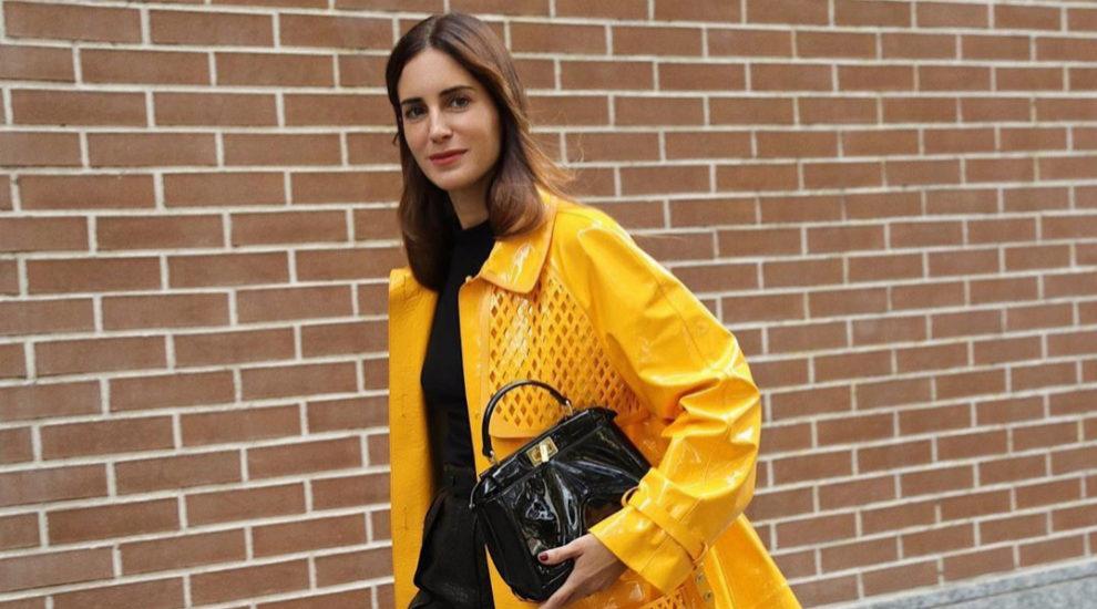 Gala González ha lucido un bolso negro estos días de 'fashion week'