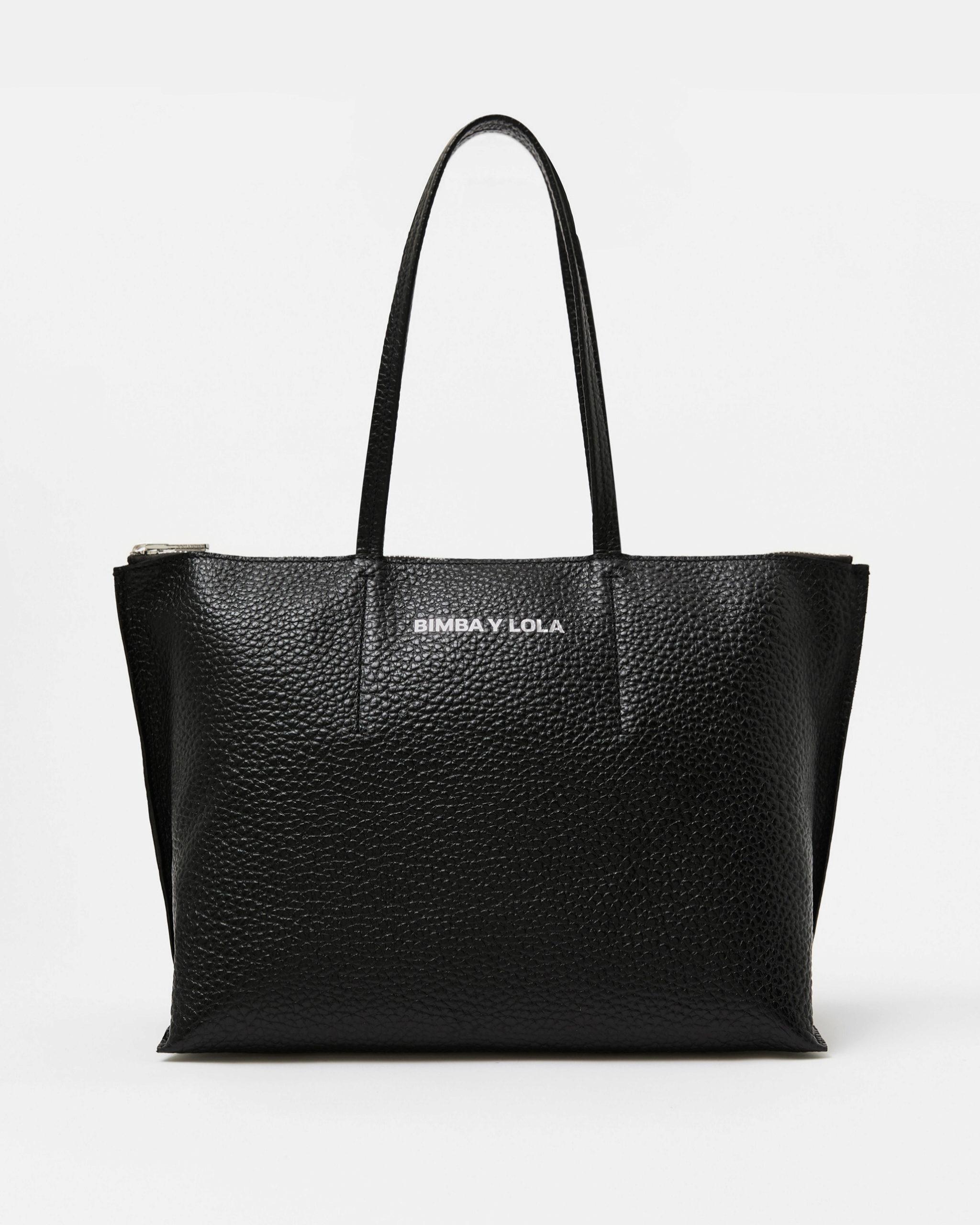 Bolso 'shopper' de piel en tamaño XL de Bimba & Lola