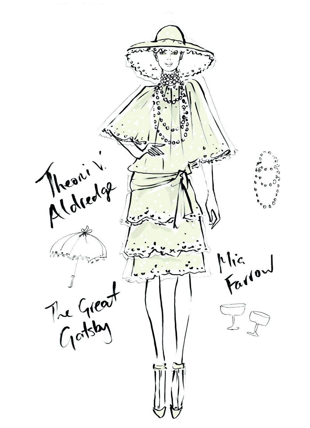 Mia Farrow en El gran Gatsby, año 1974