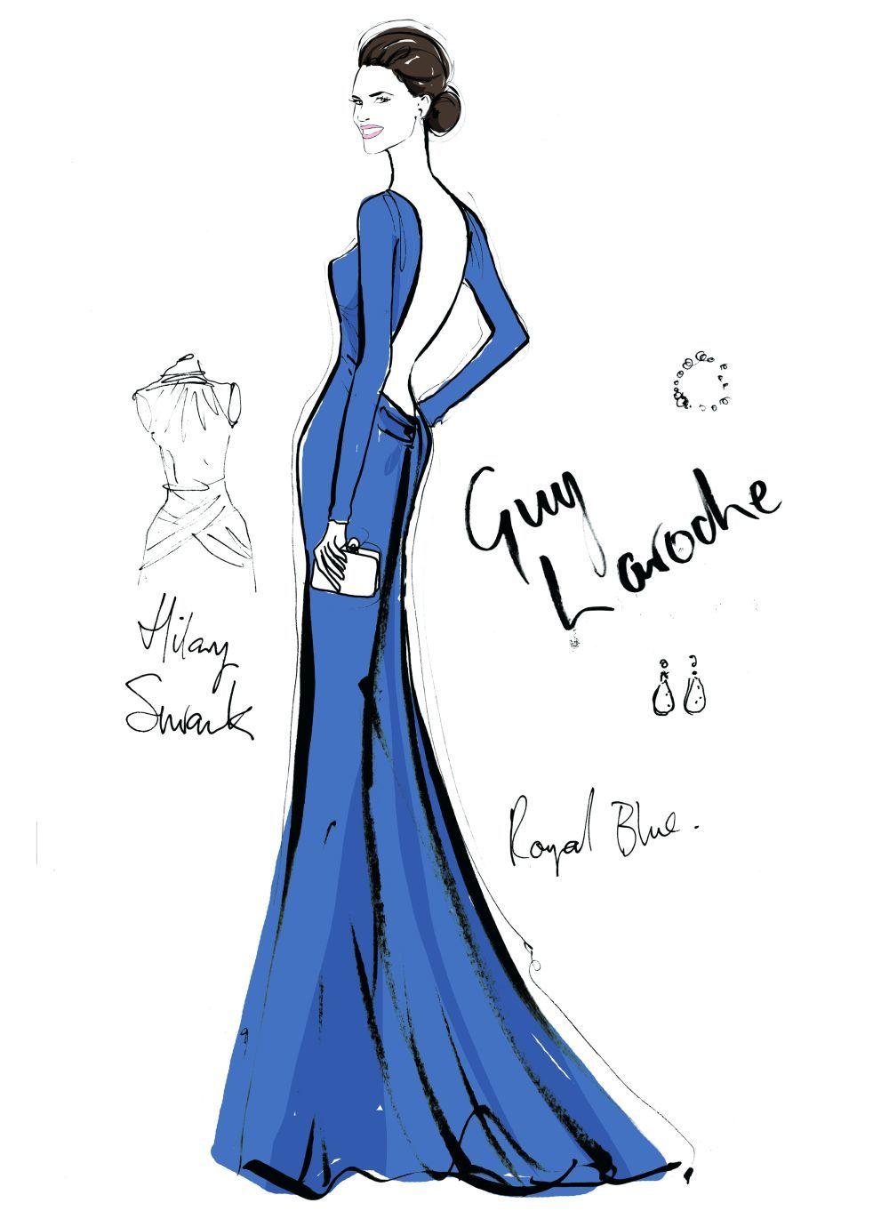 Hilary Swank con vestido de Guy Laroche en los Oscars, año 2005