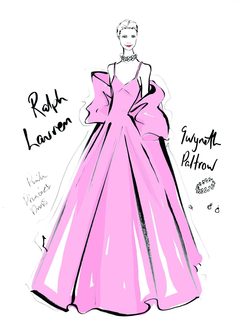 Gwyneth Paltrow en los Oscars de 1999 con diseño de Ralph Lauren