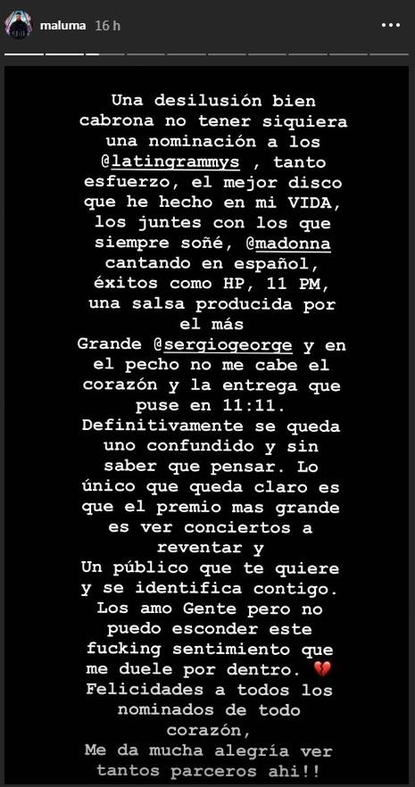 Maluma, Karol G, Daddy Yankee o J Balvin decepcionados con los Latin...