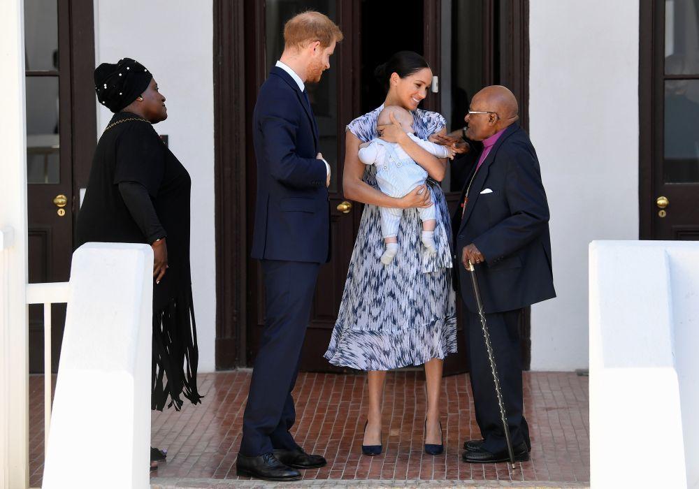 Archie en el encuentro con el arzobispo de Desmond Tutu