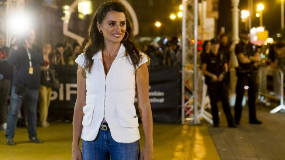 Penélope Cruz en el Festival de Cine de San Sebastián.