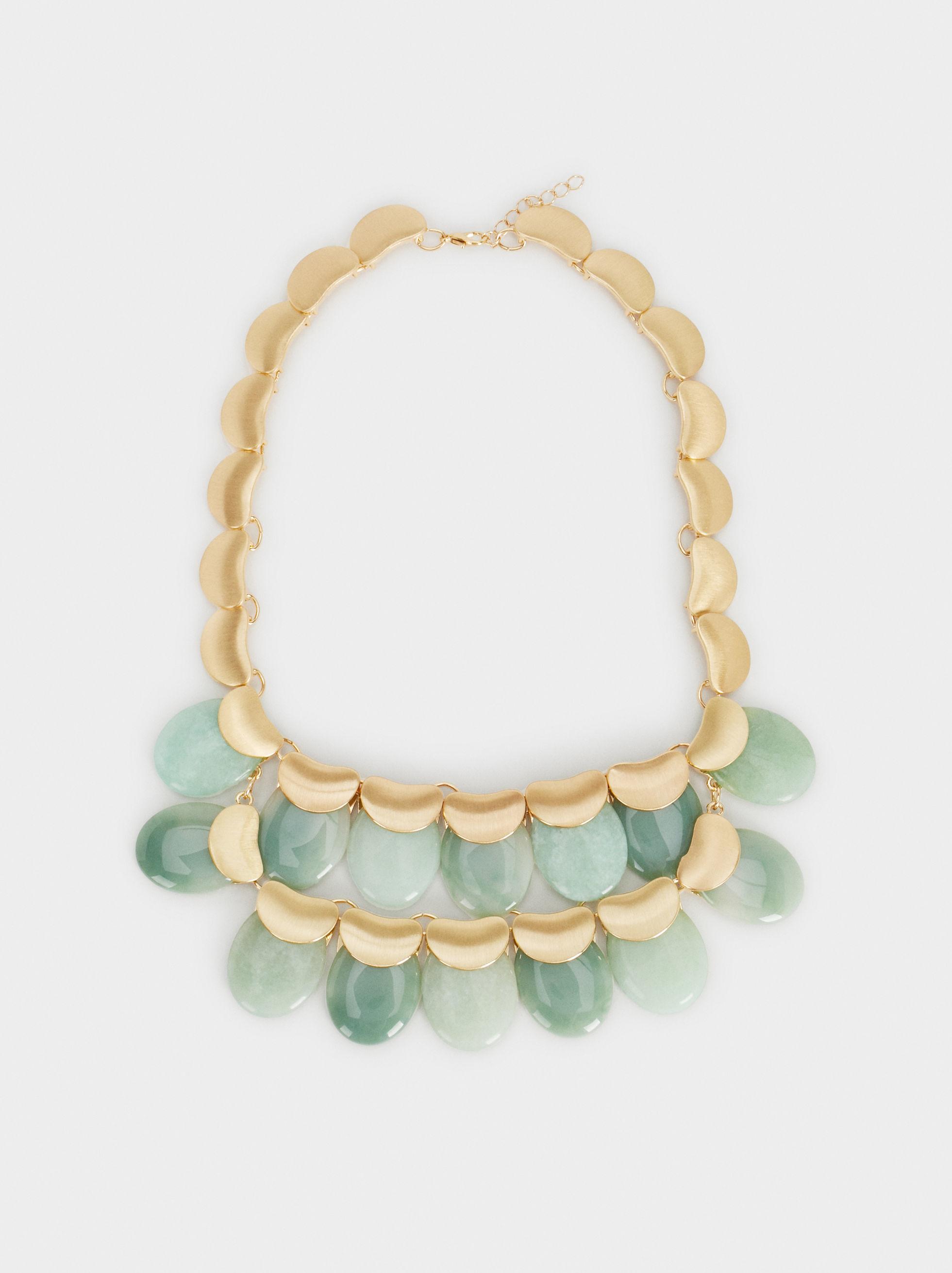 Collar con piedras verdes en dorado de Parfois