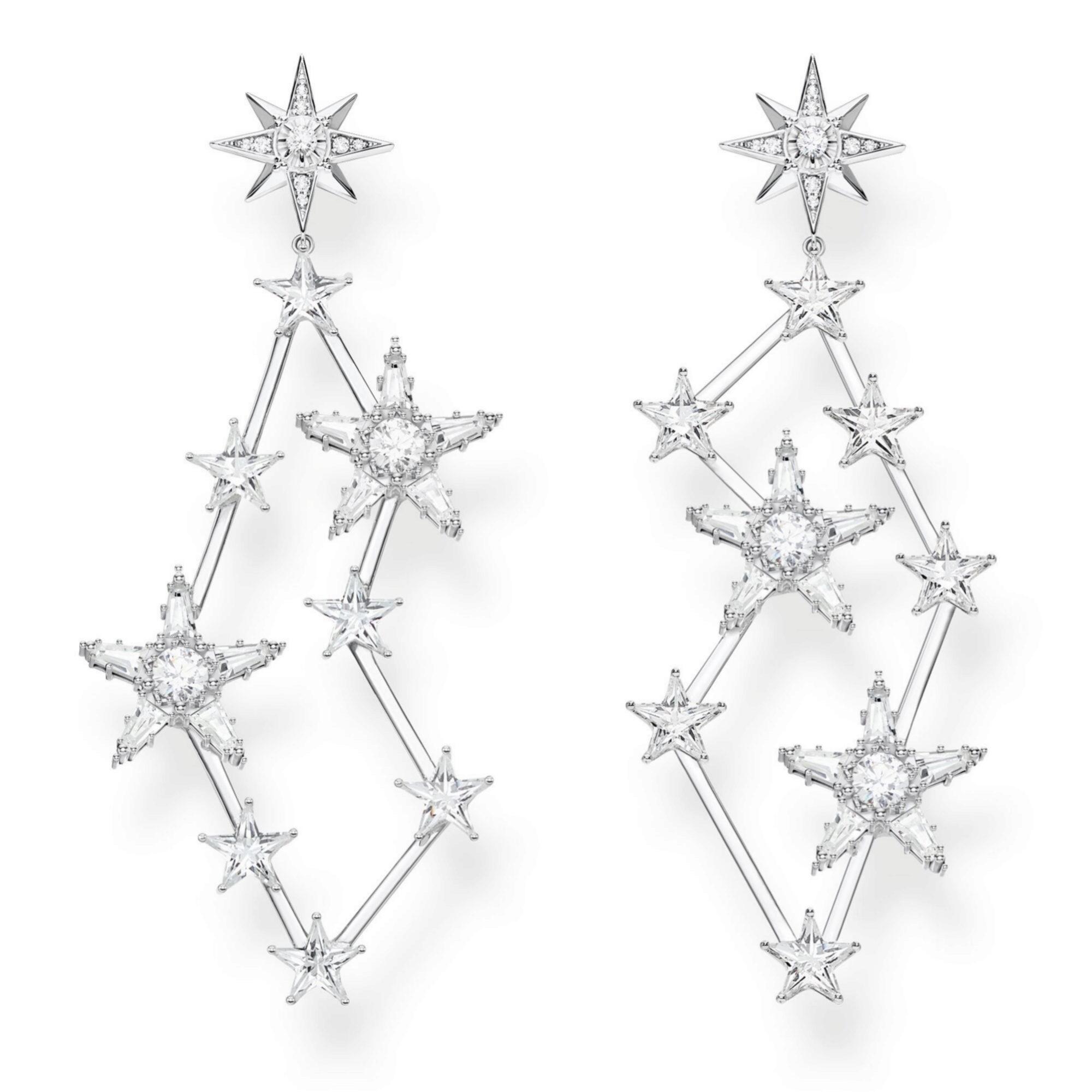 Pendientes XL con forma de estrella de Thomas Sabo