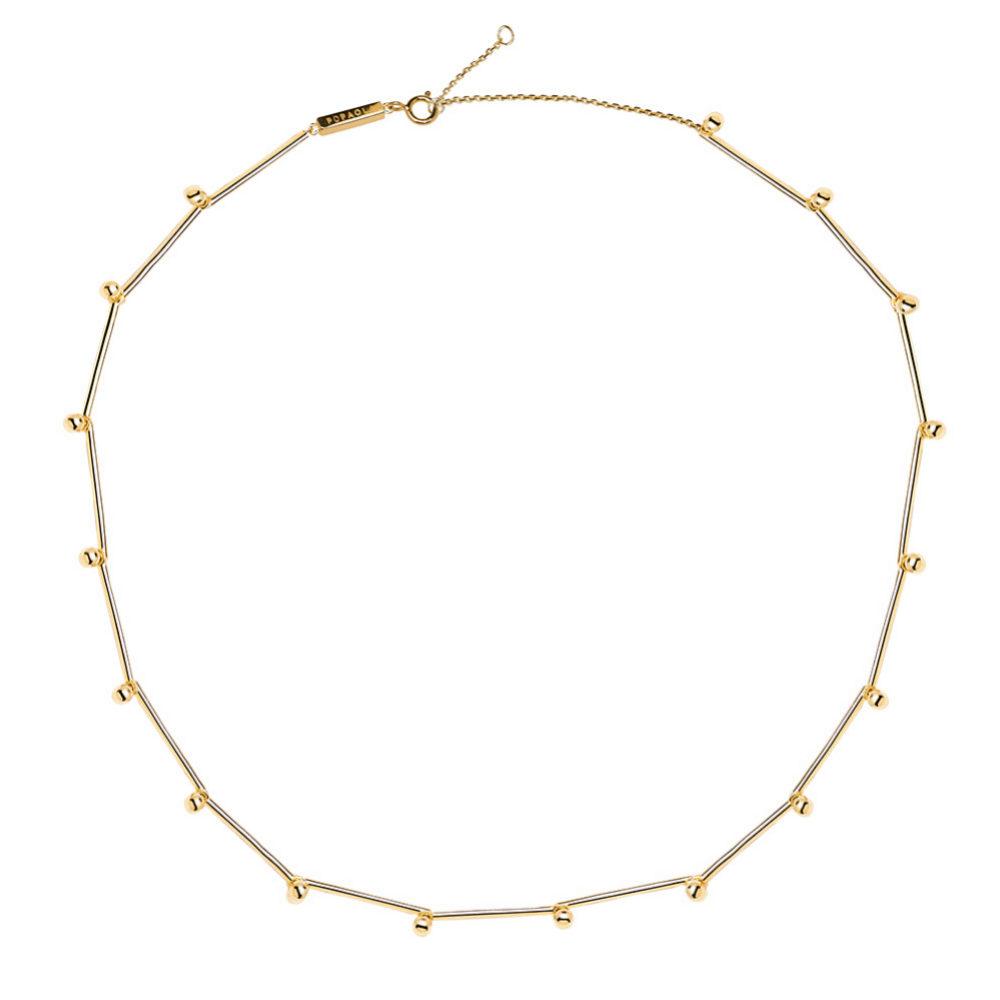 Cadena minimal en dorado de P D Paola