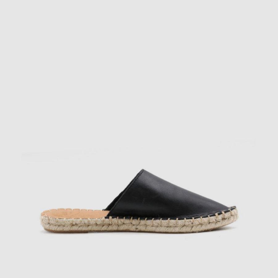 Babuchas de piel y esparto de Alohas Sandals