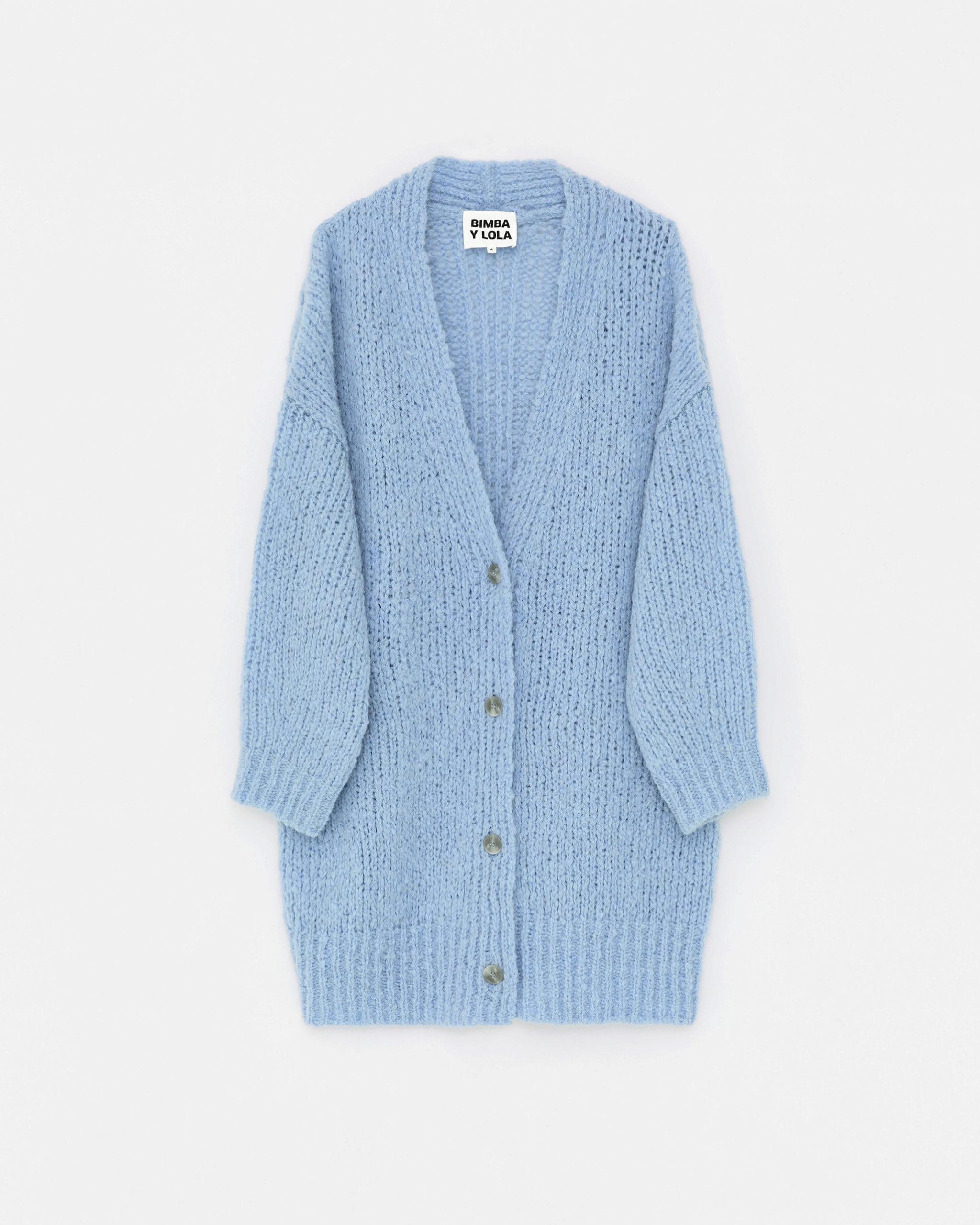 Cárdigan azul celeste de lana de Bimba & Lola