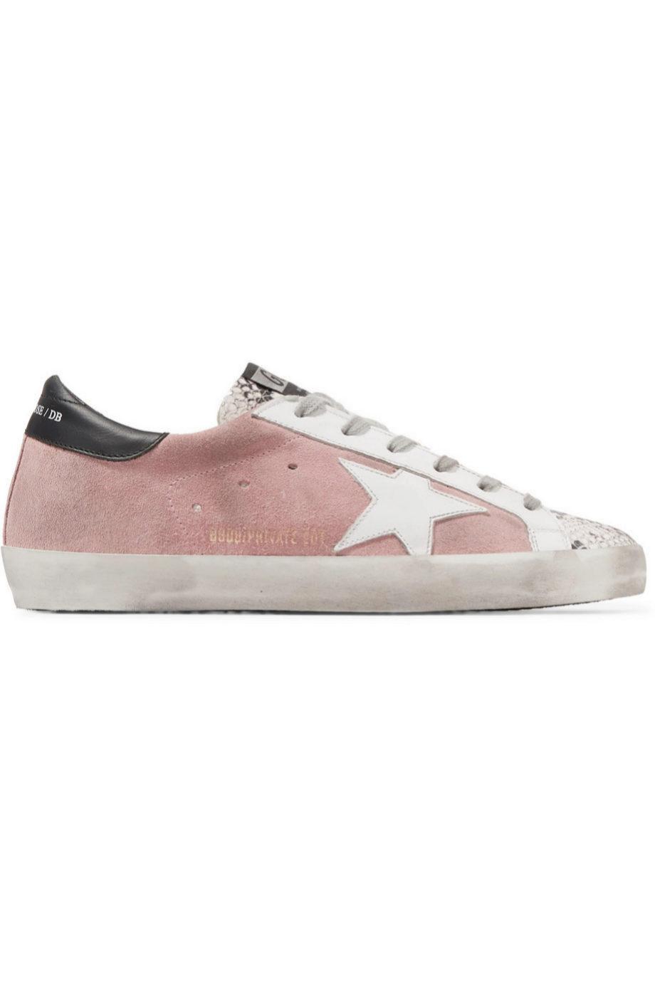 Zapatillas de ante en color rosa de Golden Goose