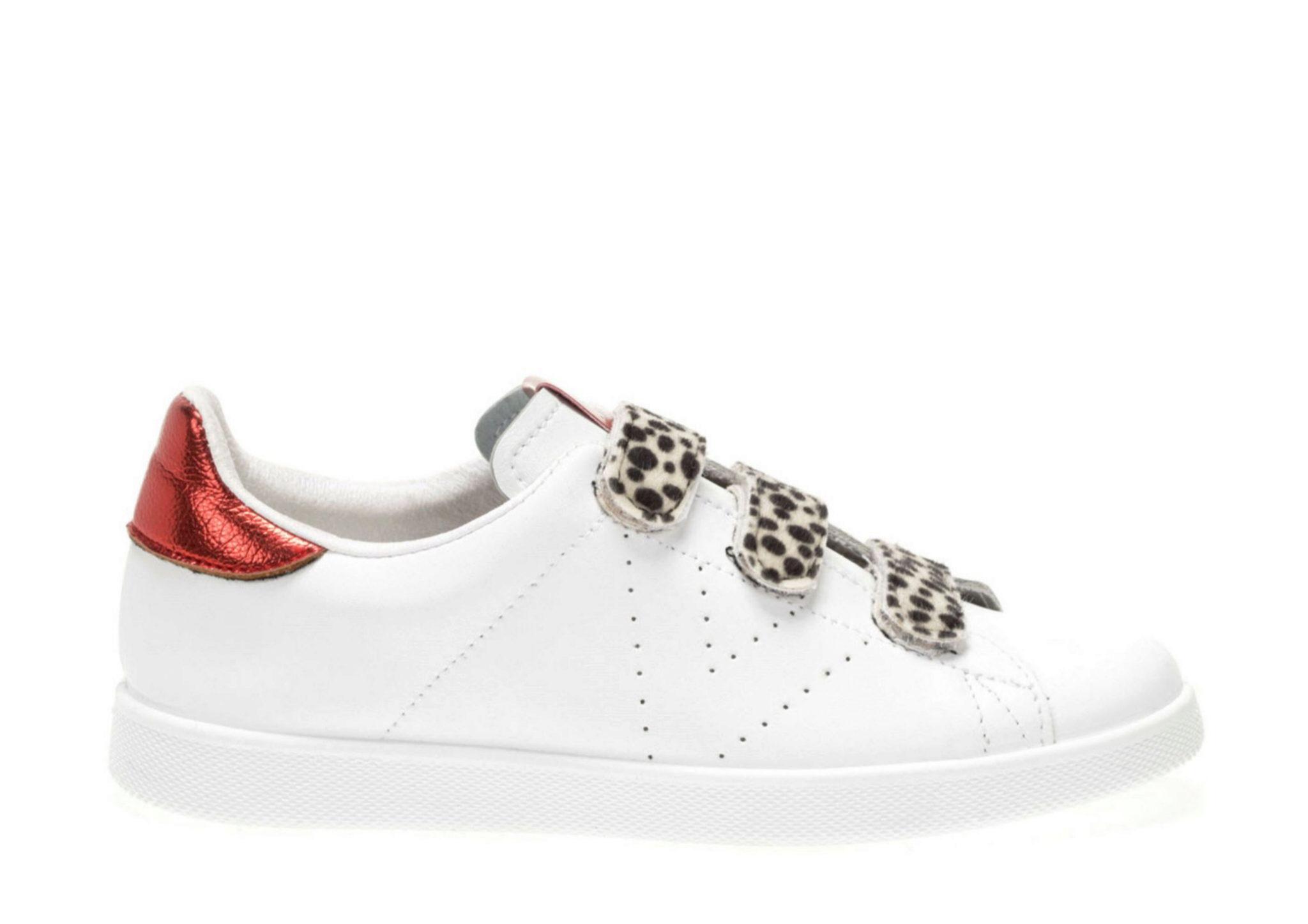 Zapatillas de velcro con detalles de leopardo de Victoria