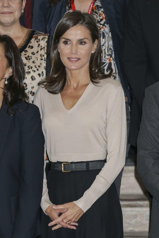 La reina Letizia en un acto en La Rioja.