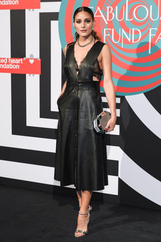 Olivia Palermo con un vestido de Zara.