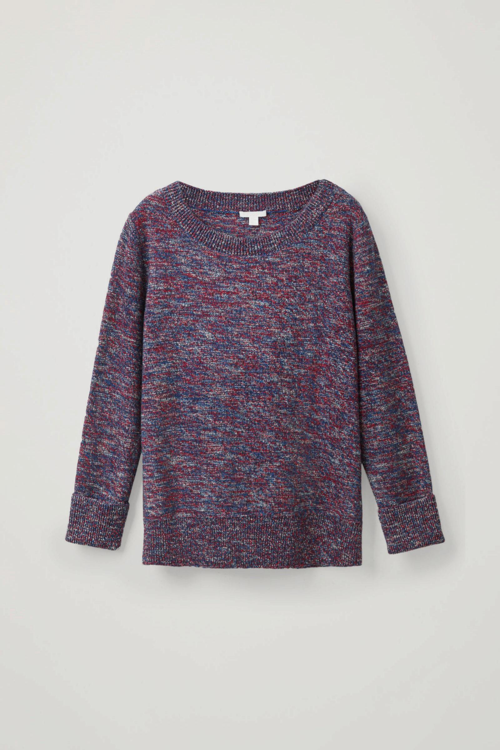 Jersey de lana con hilos de varios colores de COS