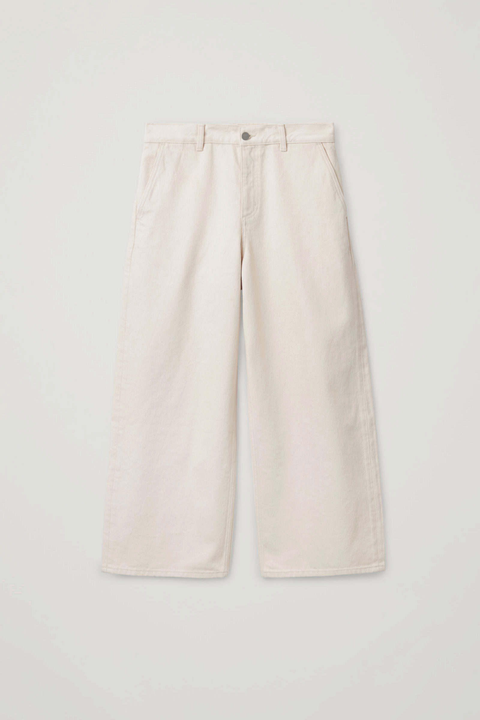 Jeans de corte culotte en blanco de COS