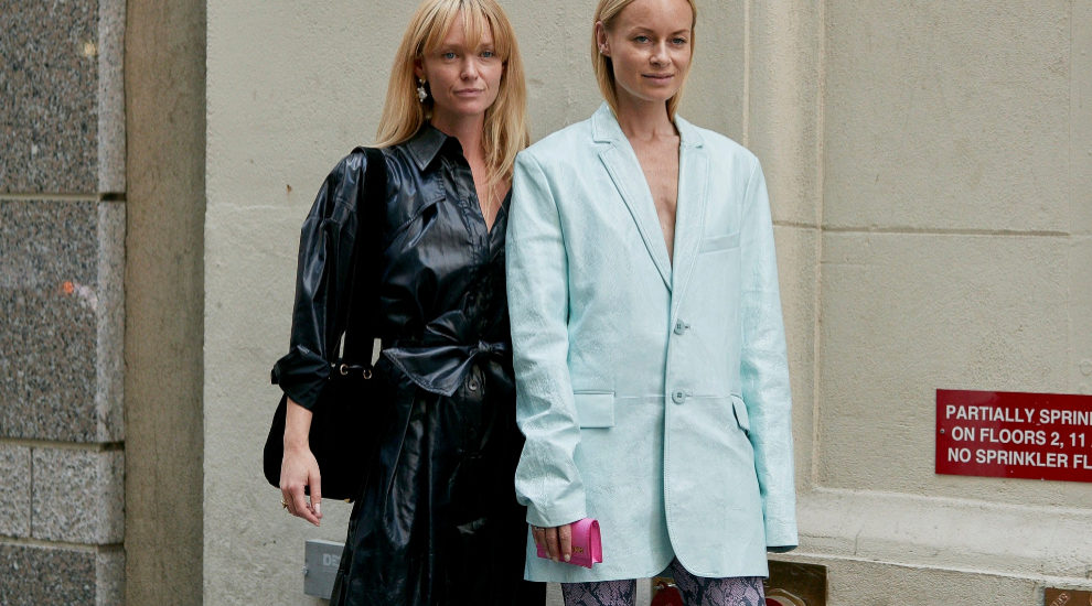 Jeanette Madsen ha apostado por la piel en la 'fashion week' de Nueva...