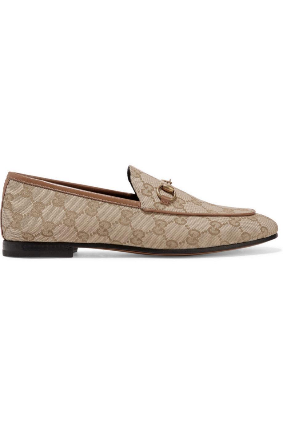Mocasines estampados de Gucci