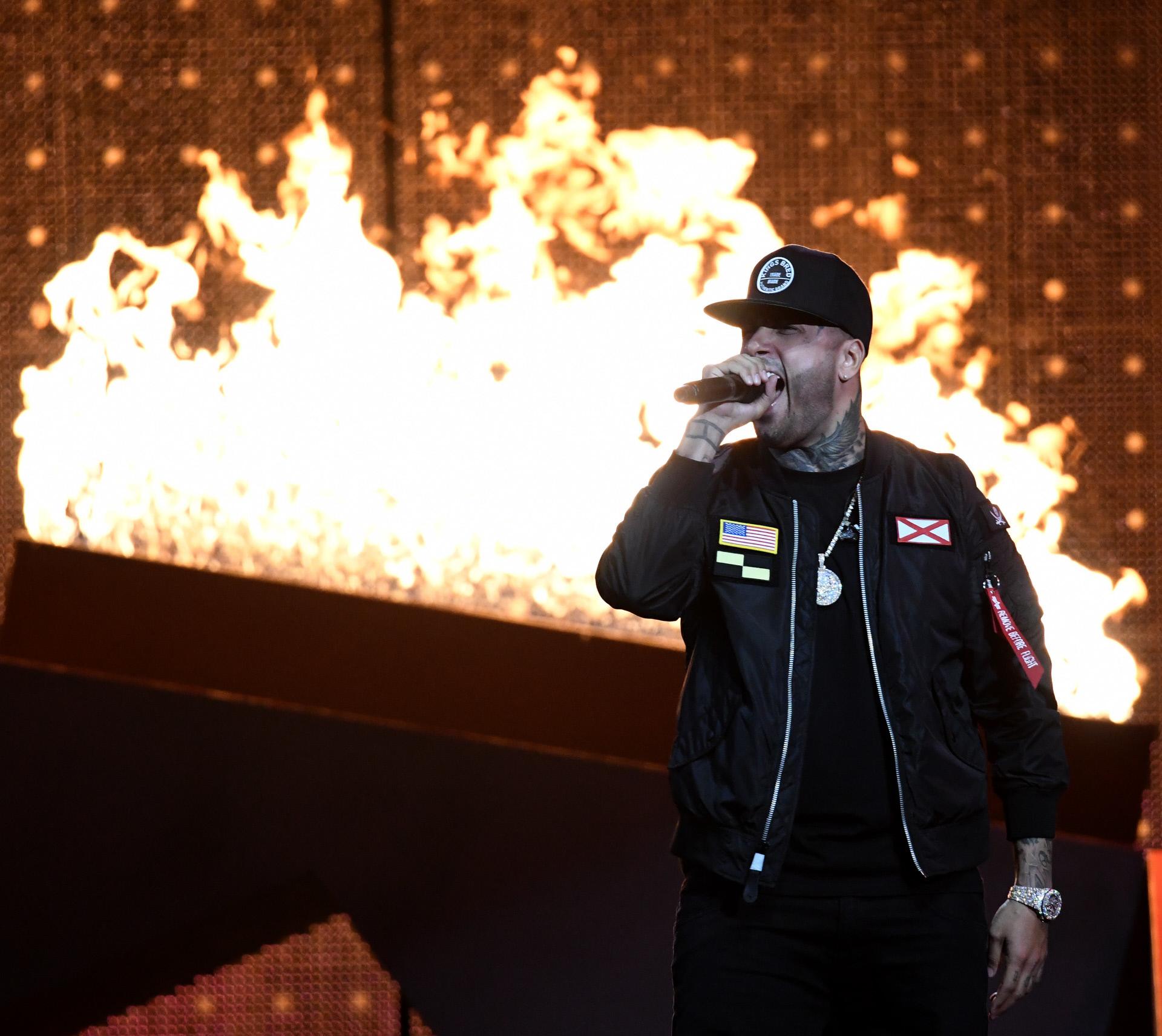 Nicky Jam durante uno de sus conciertos.