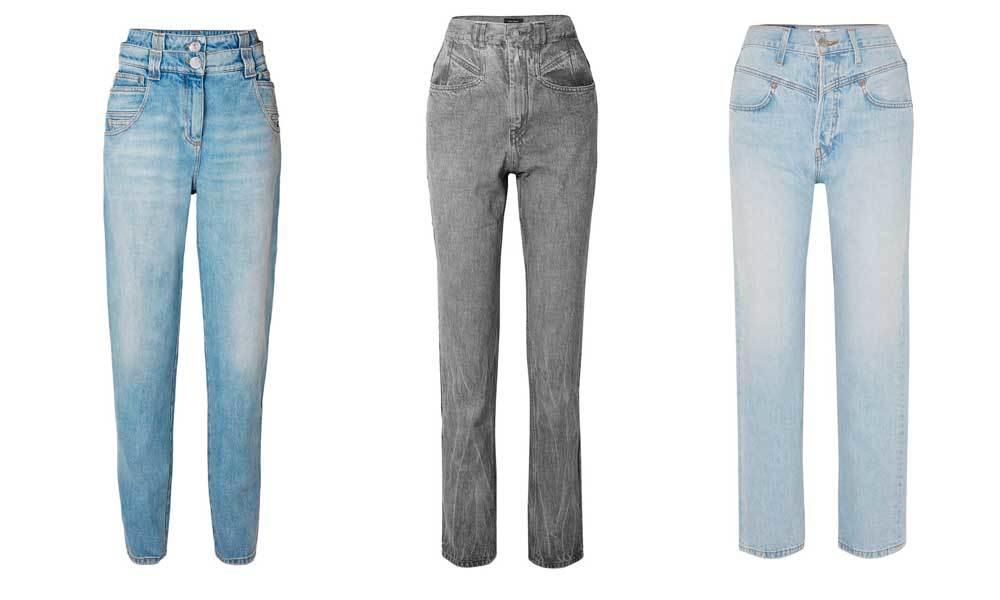 De izquierda a derecha, jeans de Balmain (690 euros), en gris de...