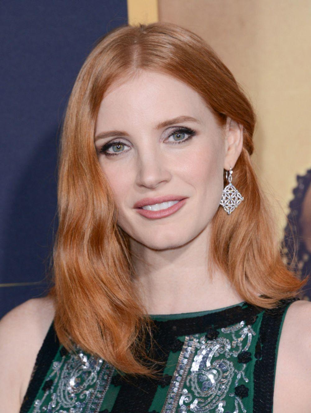Jessica Chastain presume de pelirrojo o strawberry blonde, un rubio cobrizo que le sienta espléndido con su piel blanca y ojos azules.