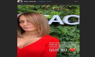 La actriz Hiba Abouk estrenando su nuevo castaño bronde con mechas...