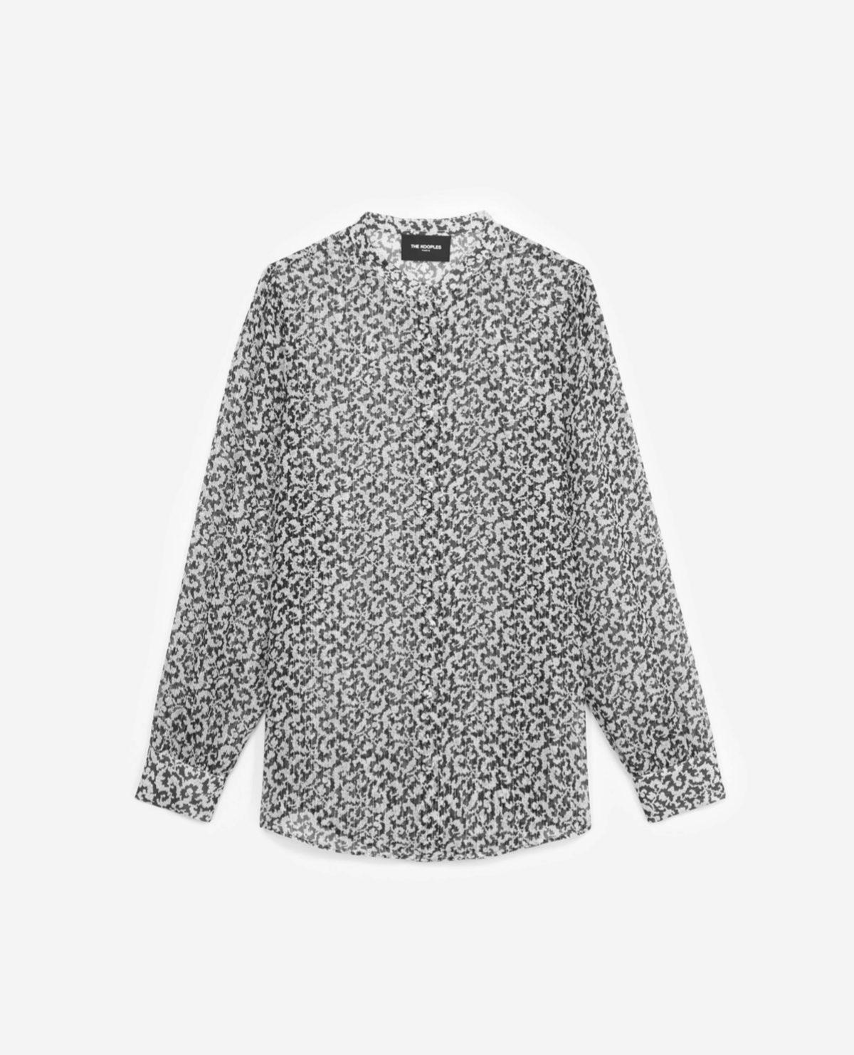 Blusa estampada de seda de The Kooples