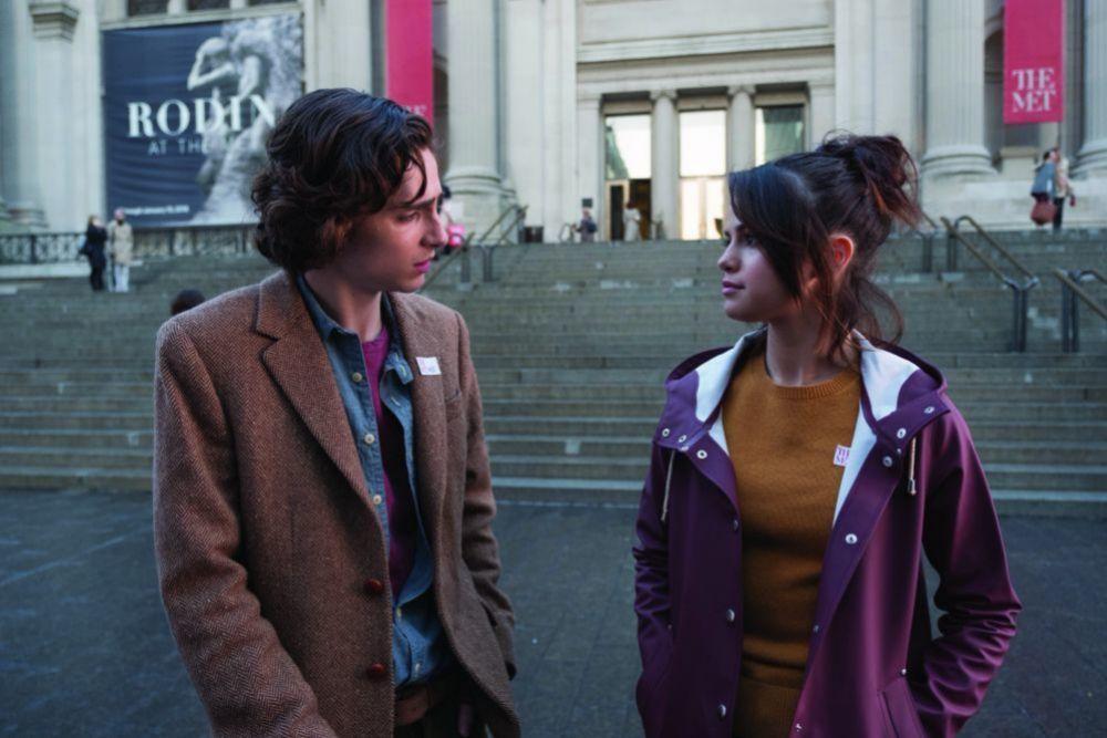 Selena Gómez y Timothée Chalamet en Día de lluvia en Nueva York.