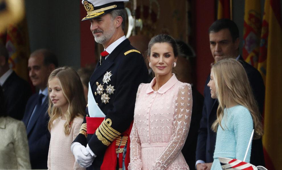 Los Reyes junto a la Princesa Leonor y la Infanta Sofía en el palco...