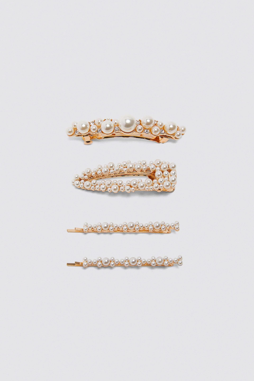 Pack de horquillas de perlas de Zara