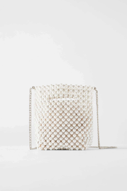 Mini saco de perlas de Zara
