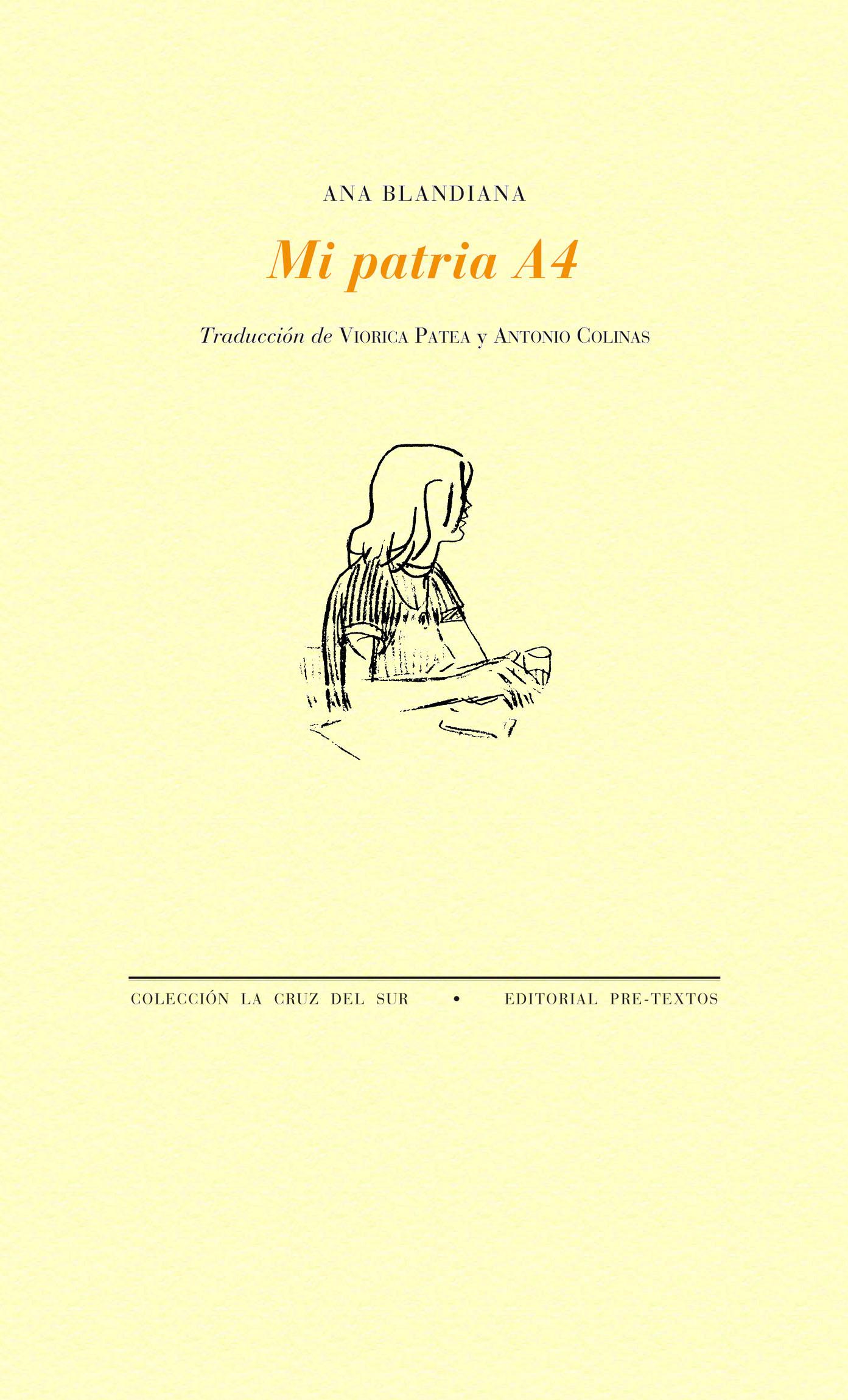 """Mi patria A4"", de Ana Blandiana."