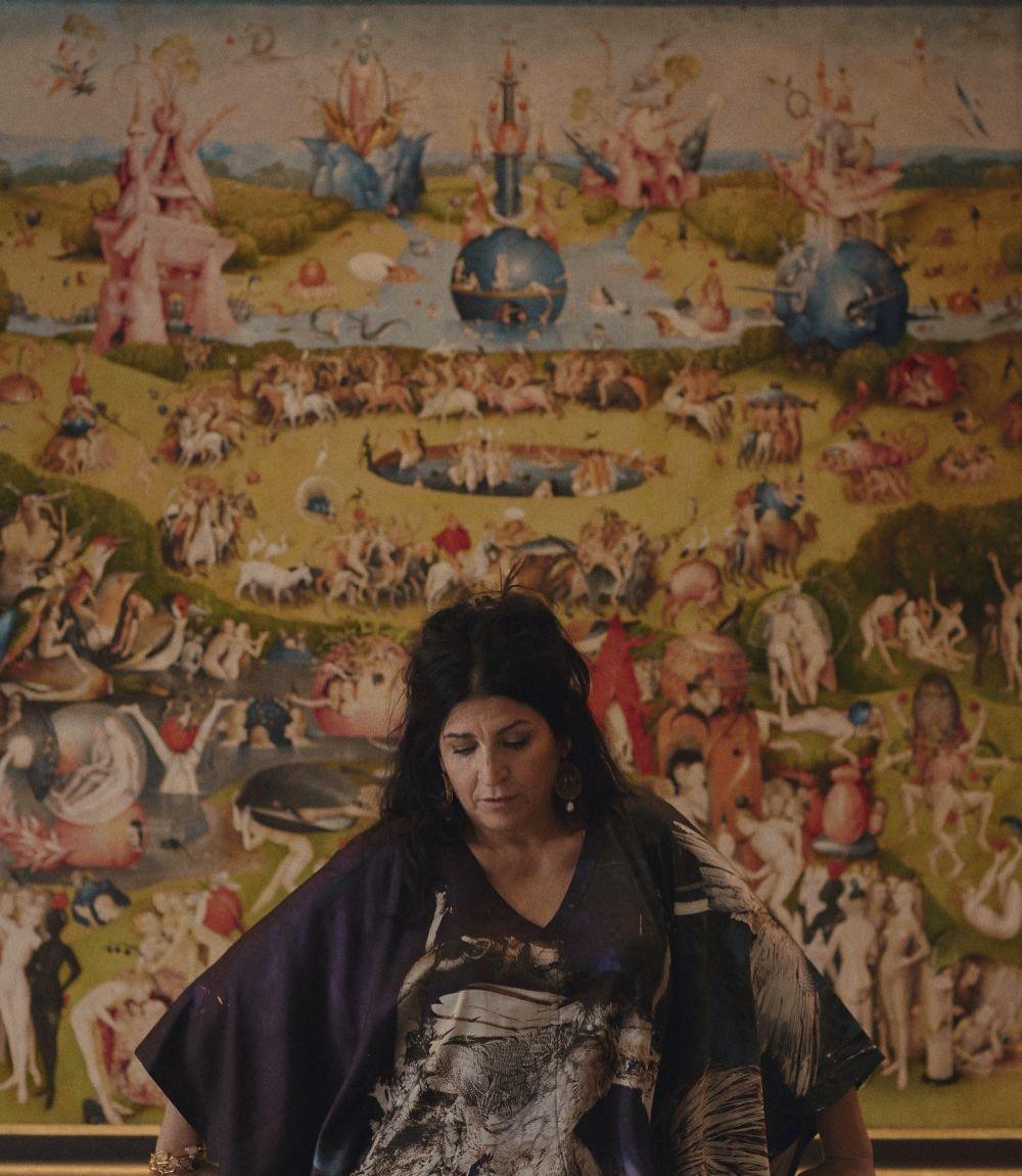 La artista Lita Cabellut en el Museo del Prado