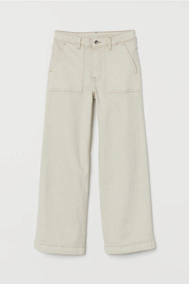 Pantalón culotte en color blanco de H&M