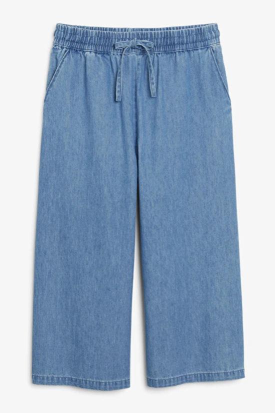 Pantalón culotte en denim de Monki