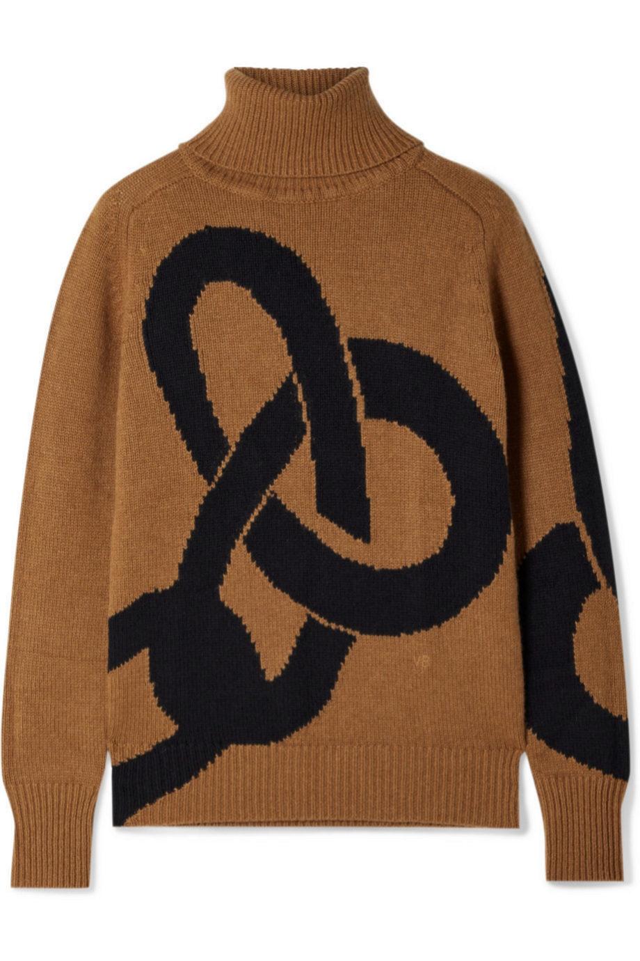 Jersey de cashmere en color camel de Victoria Beckham (c.p.v)