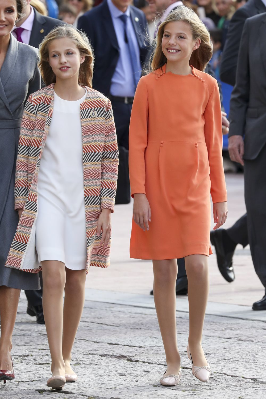 La princesa Leonor y la infanta Sofía en Oviedo
