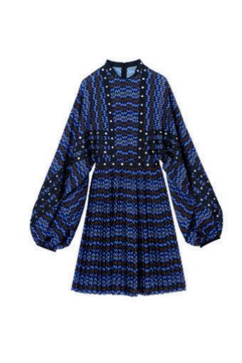 Vestido estampado con mangas abullonadas de Longchamp