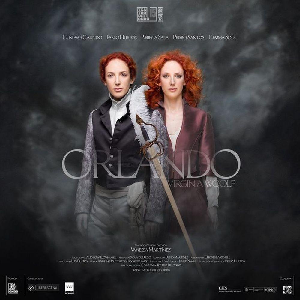 """Cartel oficial de """"Orlando"""", en Teatros del Canal."""
