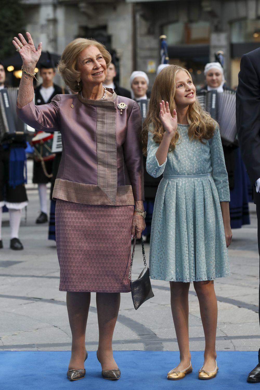 La reina Sofía y la princesa Leonor.